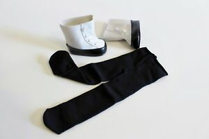 American-Girl-Doll-Black-White-Button-Boots-Tights-Samantha-Authentic