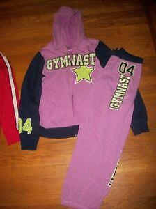 NWT Justice Girl/'s Softball or Gymnast Full-Zip Hoodie Jacket or Sweatpants