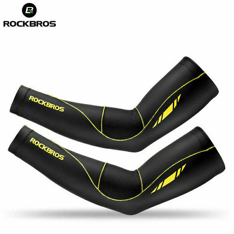 Rockbros Upgraded Summer Cycling Sun UV Protection Lycra Arm Sleeves Breathable