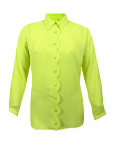NY-Collection-Women-039-s-Plus-Size-Scalloped-Blouse