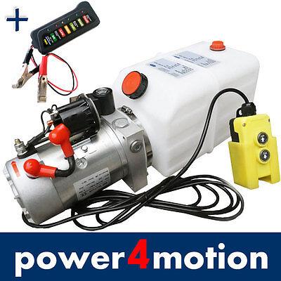 Hydraulikaggregat 4liter Hydraulik Pumpe 12 V Volt 2000w Lkw Anhänger Kann Wiederholt Umgeformt Werden. Kipper