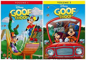TOON-Disney-Goof-Troop-Goofy-Disney-Channel-Series-Volume-One-amp-Two-1-and-2-DVD