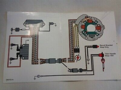 [QNCB_7524]  VINTAGE JOHNSON EVINRUDE OMC WIRING DIAGRAM DECAL 9
