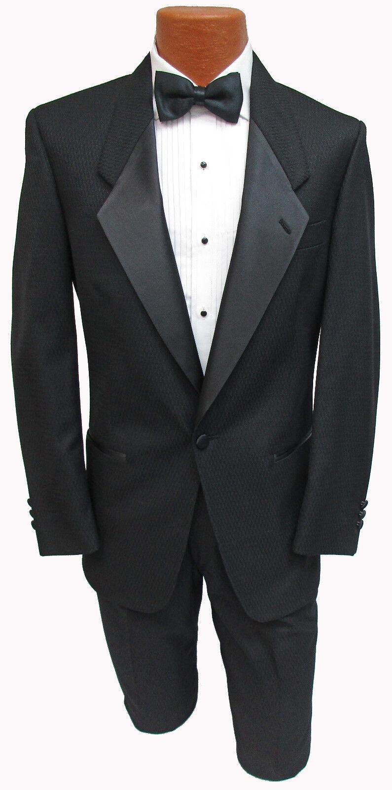 New Men's Black Christian Dior Tuxedo Jacket Retro Wedding Prom Costume