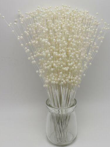 100 Bunchs Pearl Flower Stem Beads Garland Sprays Bridal Bouquet Wedding Party