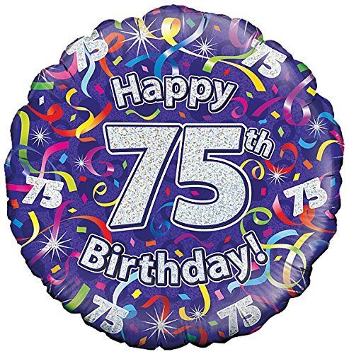 18 Purple Streamers Age 75 75th Foil Balloon Birthday Party 227468P For Sale Online