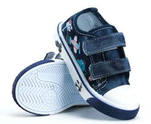 Boys BABY Toddler canvas shoes trainers size 5UK NEW BOY FIRST SHOES.