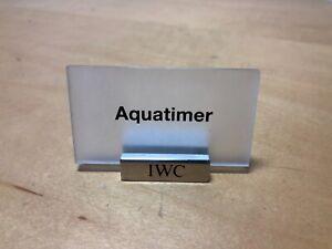 ZuverläSsig Platte Display Für Uhren Uhren-montres Wasserdicht Aquatimer StoßFest Und Antimagnetisch Iwc Schaffhausen