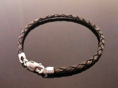 """7/"""" 8/"""" 9/"""" Infinity knot 3mm leather cord bracelet in black or brown"""