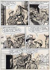 BOB DAN LE CHIEN MEXICAIN PLANCHE ORIGINALE BILL TORNADE ARTIMA PAGE 9