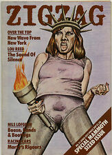 ZIGZAG No 71 April 1977 Lou Reed Clash Rick Griffin Ramones Blondie Televsion
