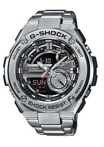 Casio G Shock G Acier Sport WR 20Bar World Time Silver Men's  OYwru