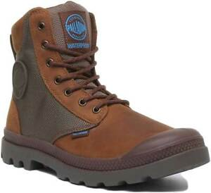 Palladium Spor Cuf Wpn Mens Waterproof Ankle Boots In Brown UK Sizes 6 - 12