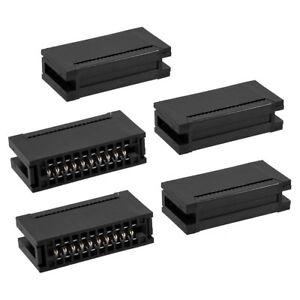 5 X Dual Row 20 Pins Ribbon Cable Female IDC Card Edge Connector 2.54mm