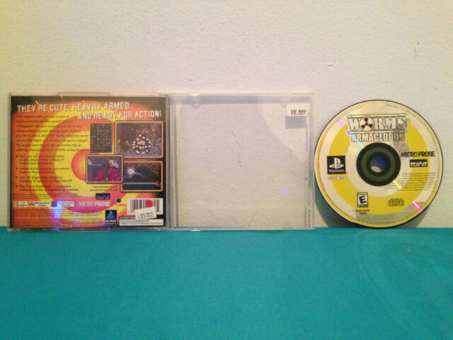 Worms: Armageddon (Sony PlayStation 1, 1999) Case & disc