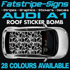 AUDI A1 GRAPHICS ROOF STICKER BOMB ROOF CAR GRAPHICS DECALS STICKERS 1.6 SKULL