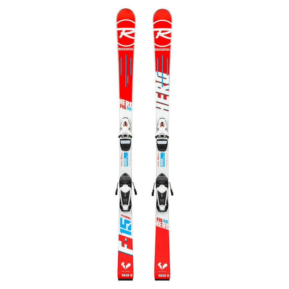Ski Hero Fis GS Open + Skibindungen NX Jr 7 Rtl B83 Schwarz Weiß