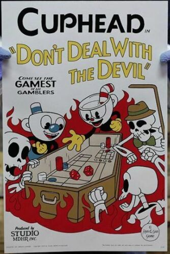 Cuphead Mugman Craps In Hell Special Edition Don/'t Deal Devil Poster Print 6TH
