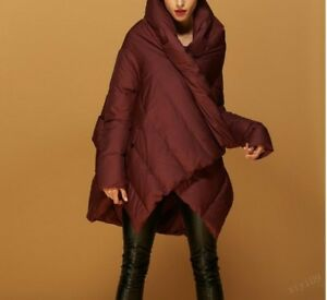 Chic Womens Coats Duck Loose Overcoats Cape Batwing Sleeves Down Casual Warm Fit r1qA4rw