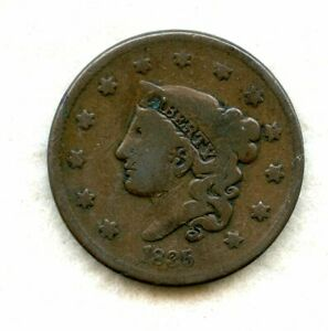 1835 Coronet Head Large Cent, Small 8 Stars, VG • Liberty Coin