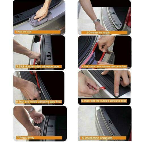 """FOR VW T5 Rubber REAR BUMPER PROTECTOR ROLLED EDGE COVER 2003 on 35.4/""""x3.1/"""""""