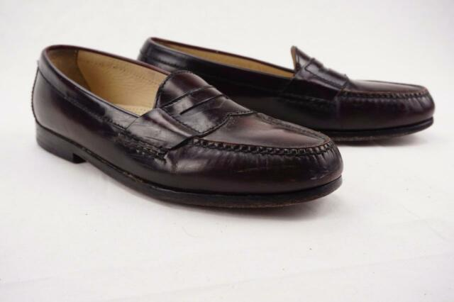 5741e90c847 COLE HAAN Pinch Penny Loafers Burgundy Glossy Leather Mens 8