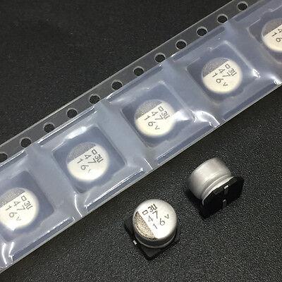 20pcs 16V 47uF 16V NCC Nippon MVL 6.3x5.7mm Long Life SMD Chip Type Capacitor