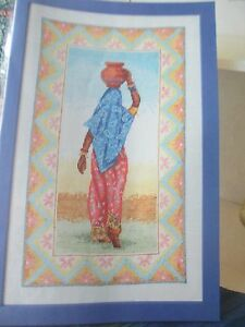 """""""beauté De L'inde"""" Cross Stitch Chart (uniquement)-afficher Le Titre D'origine Pour Assurer Une Transmission En Douceur"""