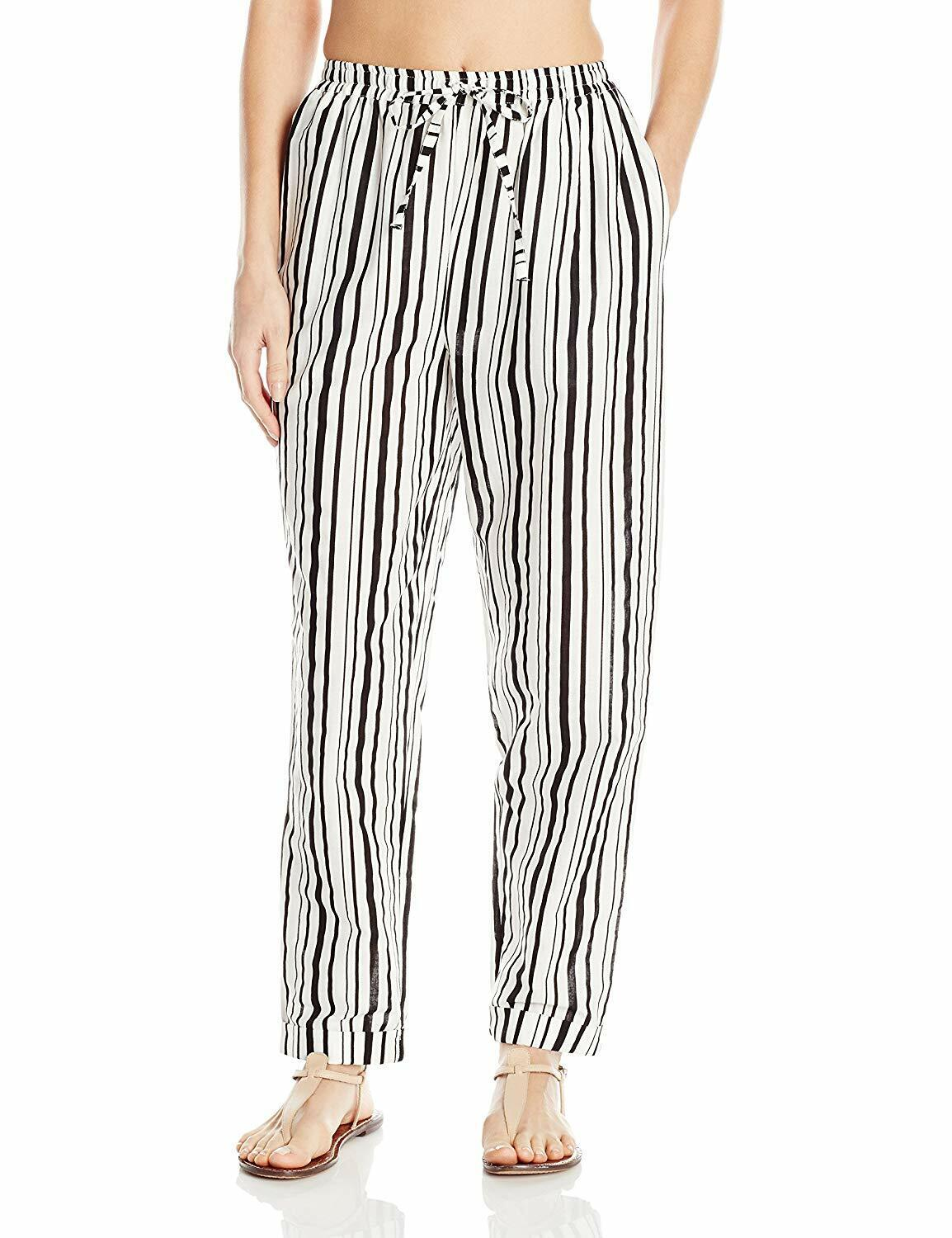 MINKPINK Women's Riviera Getaway Striped Cover Up Pants, M