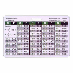 Temperature-Conversion-Chart-Horz-Badge-ID-Card-Pocket-Reference-Nurse ...