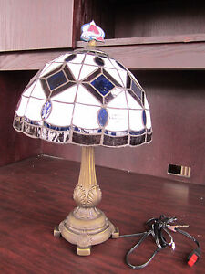 Colorado avalanche tiffany stained glass table lamp new in box nhl image is loading colorado avalanche tiffany stained glass table lamp new aloadofball Image collections