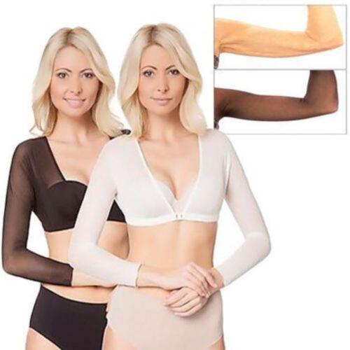 Unique Plus Size Seamless Arm Shaper Short Cropped Navel Mesh Cardigan Hot XI