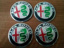 SET of 4pcs NEW DESIGN GIULIA Alfa Romeo emblem logo insignia 50mm- for hub caps