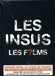 """DVD """"LES INSUS - LES FILMS - AU STADE DE FRANCE""""  neuf sous blister"""