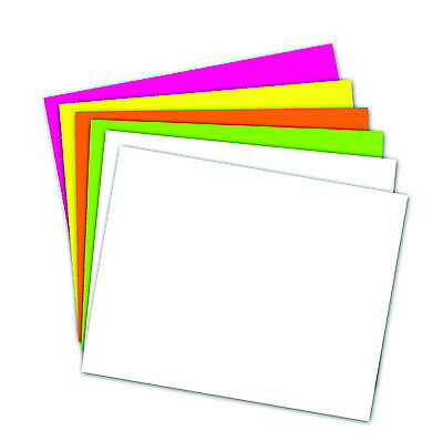 School Smart Poster Board, 11 X 14 Inches, White/Assorted Neon Color, Pack of 50