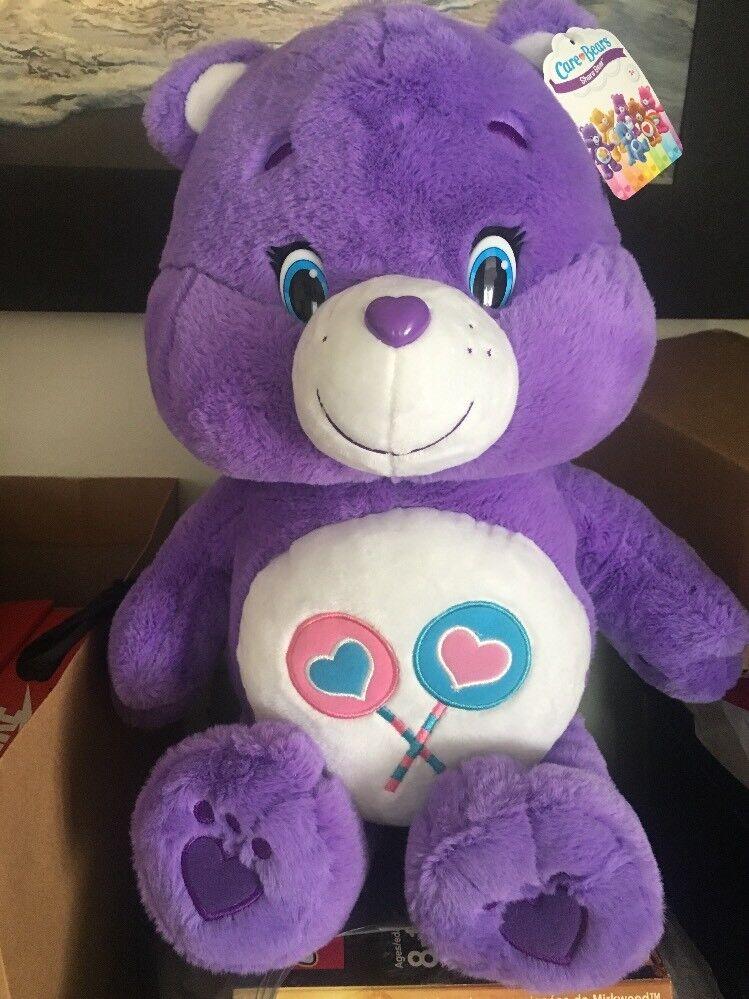 Care Bears Share Bear Extra Large 20  Plush NWT 2016 American Greetings Rare