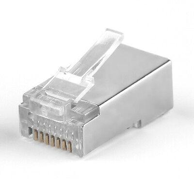 60 pcs RJ45 CAT5 CAT5E CAT6 Shielding Network Plug Connector