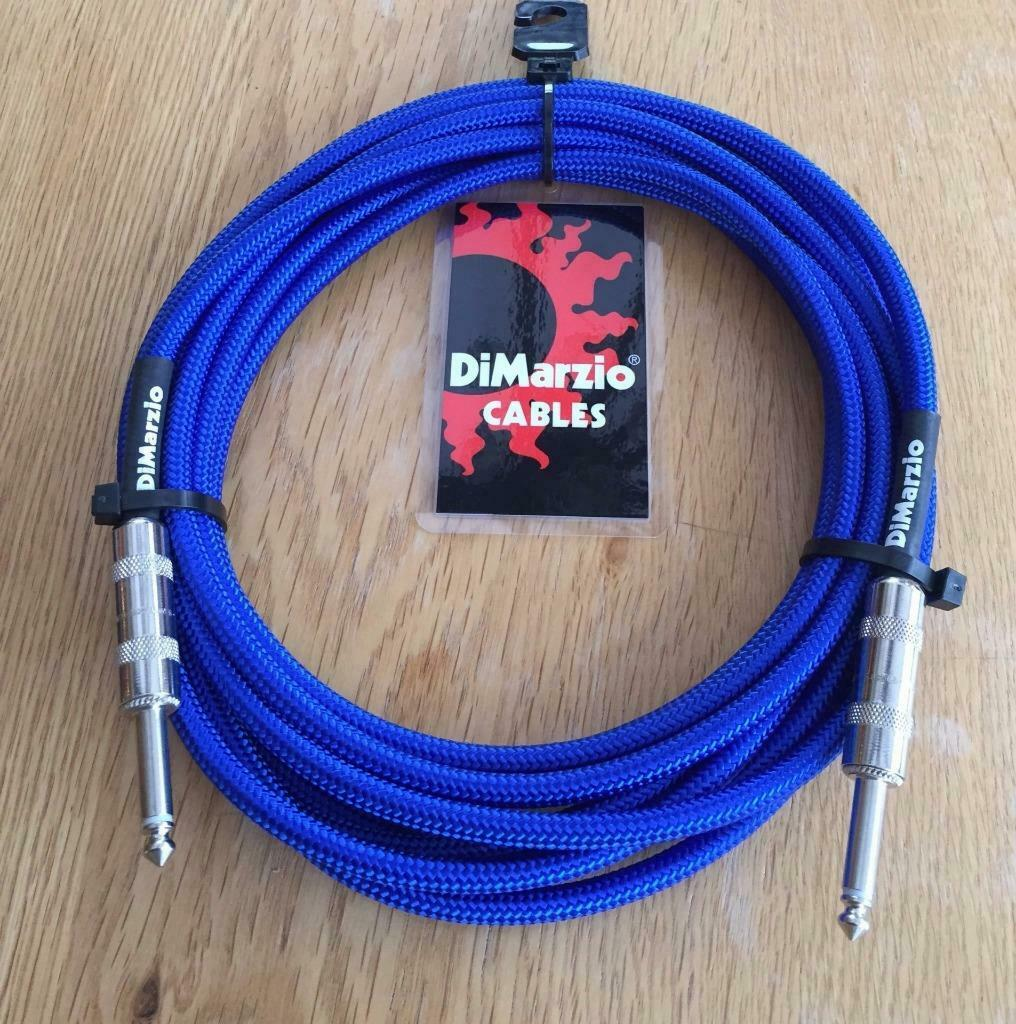 Dimarzio Blau 5.5m 18 Foot Guitar Bass Quality Instrument Cable Lead USA Made
