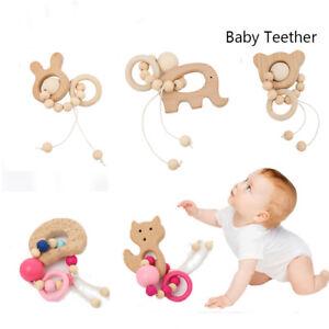 Mordedor-Montessori-pulseras-Los-juguetes-de-madera-Cartoon-Animal-sonajeros