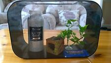 Acrylic Nano Betta Siamese Fighting Fish tank 2 Gallon aquarium & extras. Black