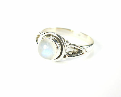 RAINBOW MOONSTONE STAMPED 925 STERLING SILVER RING SIZE K L M N O P Q R S T U