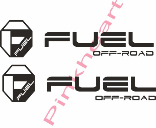 """Fuel off road sticker decal decals 2 fuel wheel wheels USA made octagon 20/"""" X 5/"""""""
