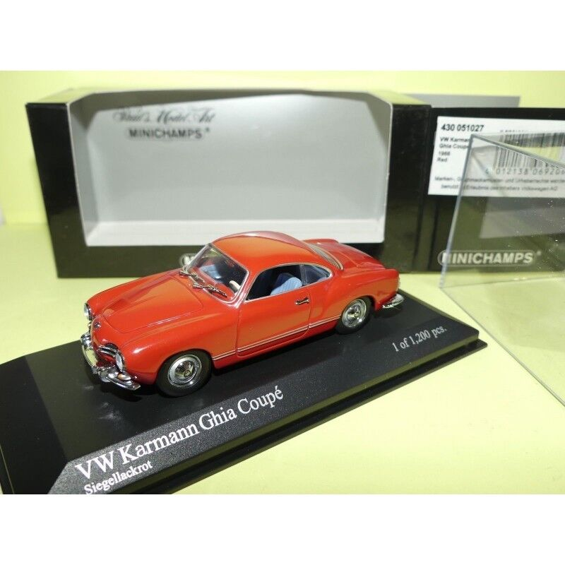 VW KARMANN GHIA COUPE 1966 Rouge rouge MINICHAMPS 1 43
