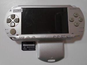 Z12343-Sony-PSP-1000-console-Silver-Handheld-system-Japan-w-SD-Cardx-Express