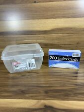 Sterilite Index Card Holder Clear And 200 Index Cards
