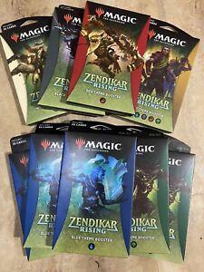 Magic The Gathering Zendikar Rising Draft Booster Box Lot Of 9, 6 Varieties NEW!
