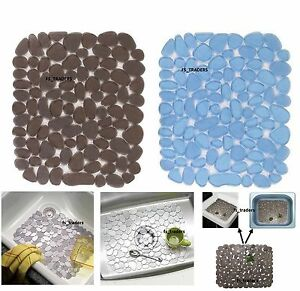 Deluxe Sink Mat Pebble Dish Drainer Glass Scratch