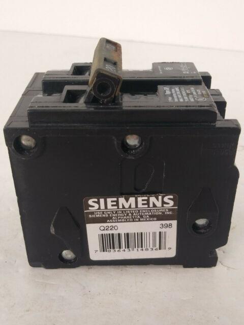 Siemens Q220 Circuit Breaker 2 Pole 20 Amp G14 for sale online