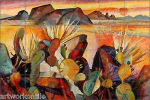Ceramic-Tile-Mural-Backsplash-Cullar-Southwest-Cactus-Landscape-Art-WC123