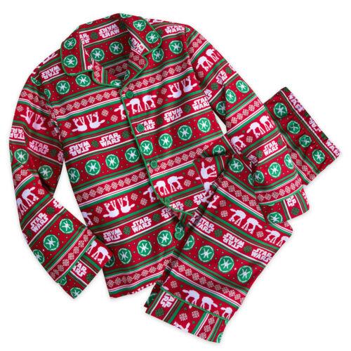 NWT DISNEY STORE Star Wars Boys Christmas Fair Isle Pajama Set 3,4